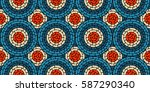 circular seamless pattern of...   Shutterstock .eps vector #587290340