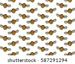 bee pattern | Shutterstock .eps vector #587291294