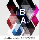 transparent triangle tiles... | Shutterstock .eps vector #587292950