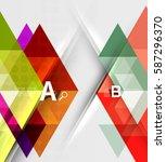 transparent triangle tiles... | Shutterstock .eps vector #587296370