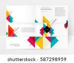 memphis geometric background... | Shutterstock .eps vector #587298959