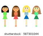 vector illustration of cartoon... | Shutterstock .eps vector #587301044