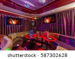 colorful interior of bright and ... | Shutterstock . vector #587302628