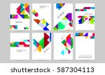 memphis geometric background... | Shutterstock .eps vector #587304113
