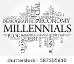 millennials word cloud social... | Shutterstock . vector #587305610