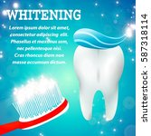 tooth whitening toothpaste oral ... | Shutterstock .eps vector #587318114
