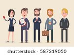 business team. a group of... | Shutterstock .eps vector #587319050