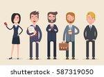 business team. a group of... | Shutterstock .eps vector #587319050