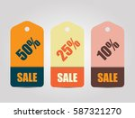 simple sale tags in retro... | Shutterstock .eps vector #587321270