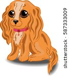 vector image of a spaniel puppy ... | Shutterstock .eps vector #587333009