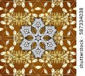 paisleys elegant floral vector... | Shutterstock .eps vector #587334038