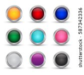 set of shiny web buttons or... | Shutterstock .eps vector #587342336
