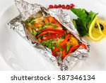 white fish fillet baked in foil ...