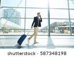 full length portrait of happy... | Shutterstock . vector #587348198