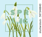 spring floral background with... | Shutterstock .eps vector #587348840