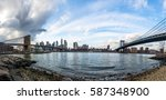 panoramic view of manhattan and ... | Shutterstock . vector #587348900