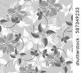 seamless flowers pattern   Shutterstock .eps vector #587349233