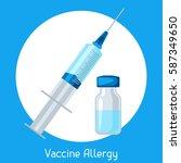 vaccine allergy. vector...   Shutterstock .eps vector #587349650