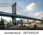 Manhattan Bridge And Dumbo Sign ...
