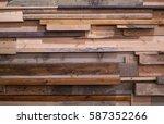 background of reclaimed timber... | Shutterstock . vector #587352266