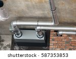 ventilation pipes. ventilation. ... | Shutterstock . vector #587353853