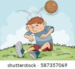 vector illustration of a hit a... | Shutterstock .eps vector #587357069