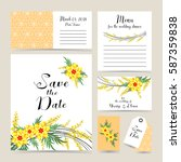 wedding invitation decorated... | Shutterstock .eps vector #587359838