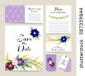 wedding invitation decorated... | Shutterstock .eps vector #587359844