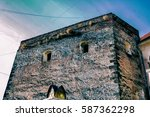 castle tower  stone walls ... | Shutterstock . vector #587362298