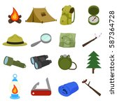 boy scout icon vector design    Shutterstock .eps vector #587364728