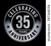 35 years anniversary logo...   Shutterstock .eps vector #587368256