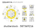 oil popularity modern layouts... | Shutterstock .eps vector #587369216