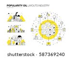oil popularity modern layouts... | Shutterstock .eps vector #587369240