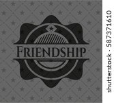 friendship dark emblem | Shutterstock .eps vector #587371610