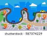 colorful vector illustration in ... | Shutterstock .eps vector #587374229