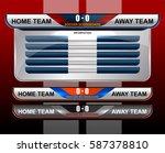 scoreboard broadcast graphic...   Shutterstock .eps vector #587378810