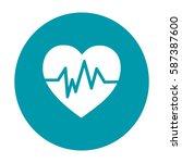 diagnosis of heart icon | Shutterstock .eps vector #587387600