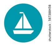 sailboat icon | Shutterstock .eps vector #587388458