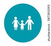 flat icon family. | Shutterstock .eps vector #587393393