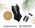 Flat Lay Beach Accessories ...