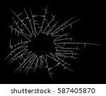 broken glass silhouette vector... | Shutterstock .eps vector #587405870