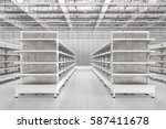 store interior with empty... | Shutterstock . vector #587411678