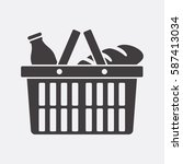 shopping basket icon | Shutterstock .eps vector #587413034