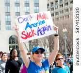 Small photo of WASHINGTON FEBRUARY 25: Protesters rally against President Trump's repeal of the Affordable Care Act on February 25, 2017 in Washington DC