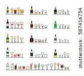 alcoholic beverages  bottles... | Shutterstock . vector #587416754