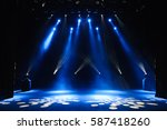 free stage with lights ... | Shutterstock . vector #587418260