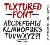 hand drawn brush textured... | Shutterstock .eps vector #587418998