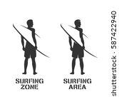 surfing related wall art... | Shutterstock .eps vector #587422940
