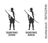 surfing related wall art...   Shutterstock .eps vector #587422940