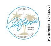 west coast california long... | Shutterstock .eps vector #587423384